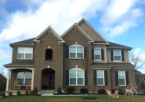 Brown Siding White Trim - coopers mill brick khaki brown siding wicker white trim