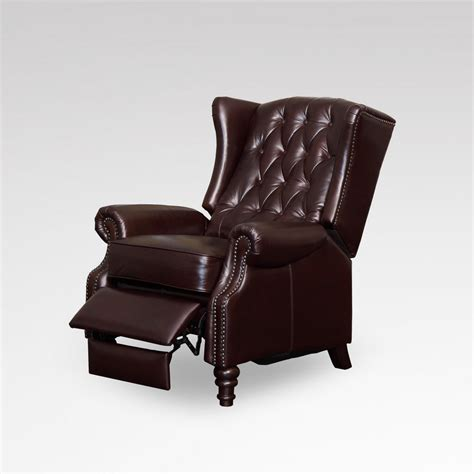 leather wing back recliner how upholstered wing chair recliner