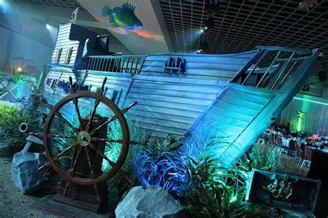 underwater themed event sunken ship  lighting