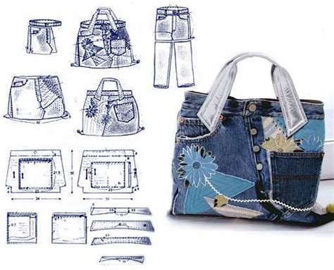free pattern for jeans bag jeans bag patterns 12 amazing recycled jeans bags with