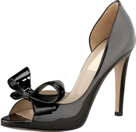 Valentino Metallic Bow Dorsay by Valentino Couture Bow Dorsay In Black Lyst