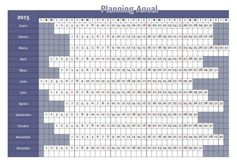 Calendario Anual 2015 Planning Anual 2016 Para Imprimir Calendar Template 2016