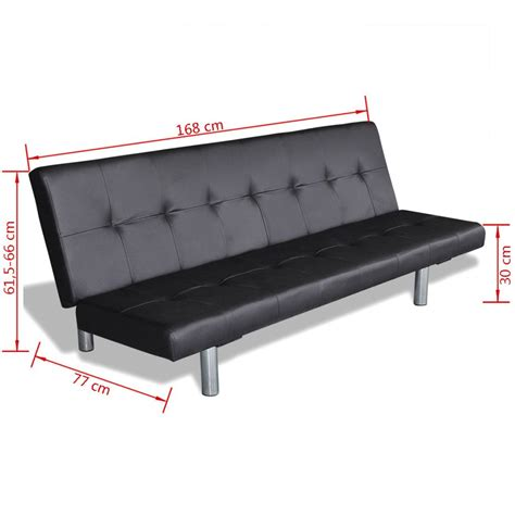 Sofa Bed Black Sofa Bed With Two Pillows Adjustable Black Vidaxl Au