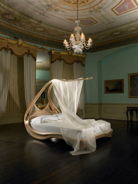 amazing bed amazing wooden canopy bed enignum by joseph walsh digsdigs