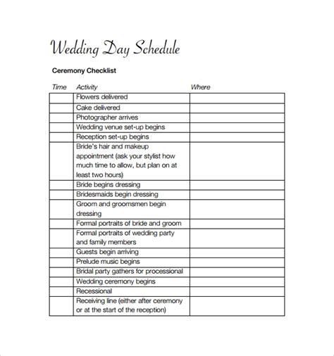 wedding schedule template wedding event schedule sles driverlayer search engine