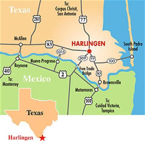 harlingen texas map texas map harlingen