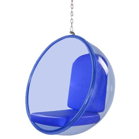 Acrylic Hanging Chair by Hanging Chair Blue Acrylic Modern In Designs