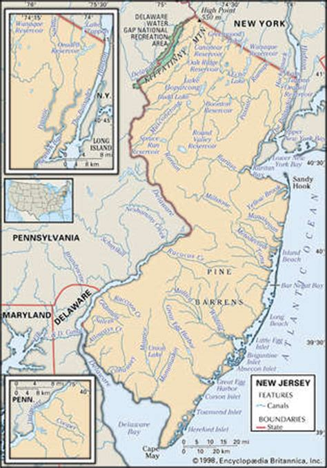 new jersey physical map stock illustration physical map of the state of new