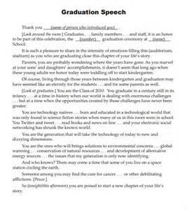 Graduation Speech Template by Sle Graduation Speech 5 Documents In Pdf