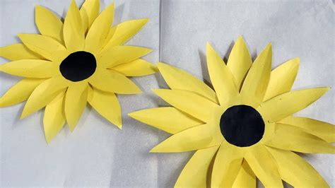 Sunflower By Paper - how to make sunflower with paper by decoration idea 673