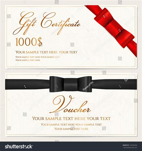 Wedding Gift Coupon by Voucher Gift Certificate Coupon Invitation Gift Stock