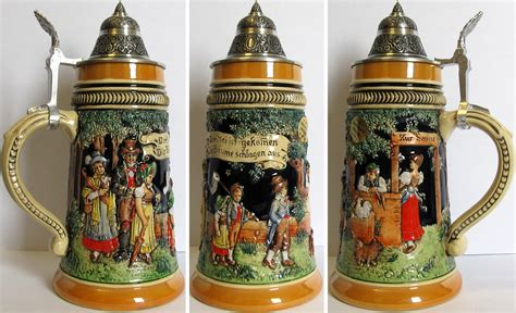 steins artificial trees may day celebration le relief german stein 5 l authentic steins from