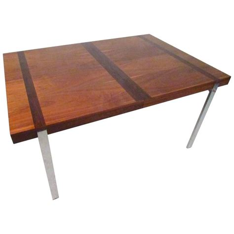 fantastic midcentury dining table with rosewood inlay for