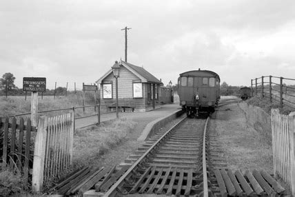 Tollesbury railway station. England, 1950. at Science and