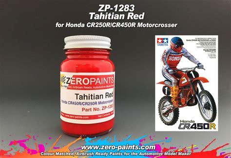 honda tahitian cr250r cr45r motocrosser bikes tamiya 60ml zp 1283 zero paints