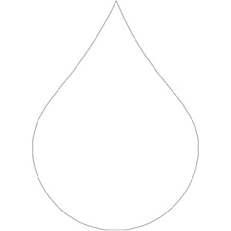 Raindrop Outline Clipart by Outline Of Raindrop Clipart Wikiclipart