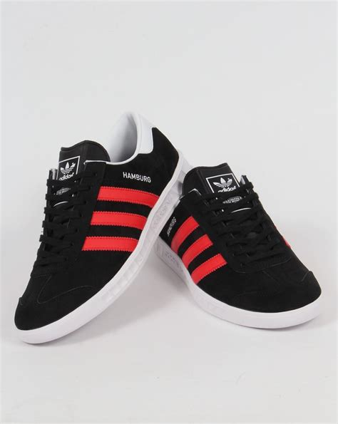 adidas hamburg black adidas hamburg trainers black red white originals shoes mens