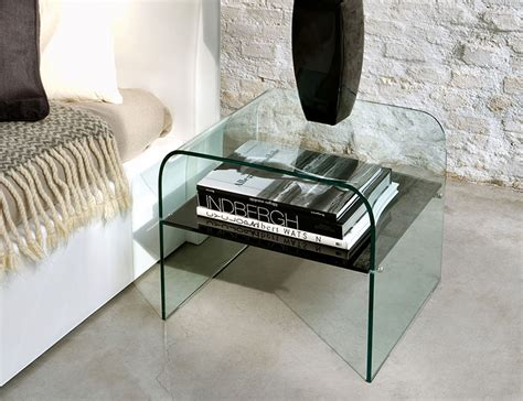 modern glass bedside tables unico contemporary glass golden plus l table or bedside