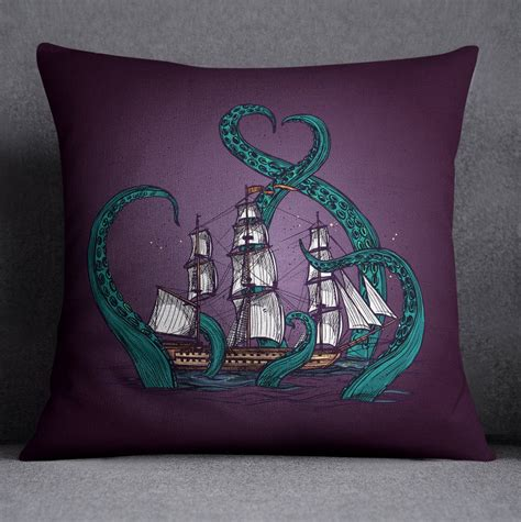 octopus comforter set teal tentacle purple octopus kraken ship bedding ink and