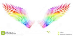 colored wings wings stock illustration image of feathery