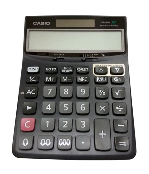 Casio Dj 120d Kalkulator Meja casio desk calculator dj 120d stationeries