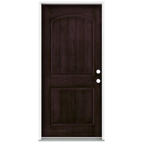 jeld wen 36 in x 80 in stained espresso 2 panel solid jeld wen 36 in x 80 in architectural 2 panel arch top