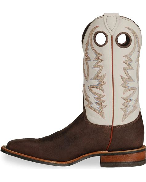 justin s bent rail cowboy boot wide square toe br358