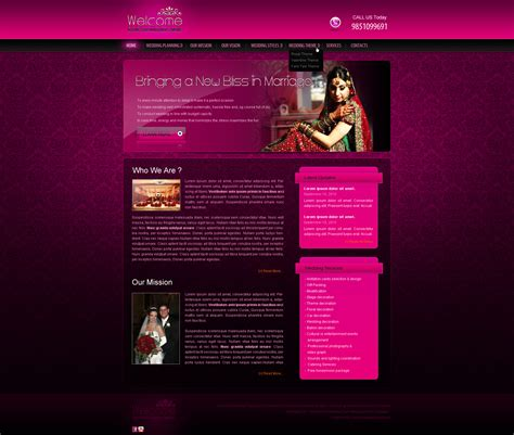 Wedding Event Management Web Template By Crazeeartist On Deviantart Event Management Website Templates
