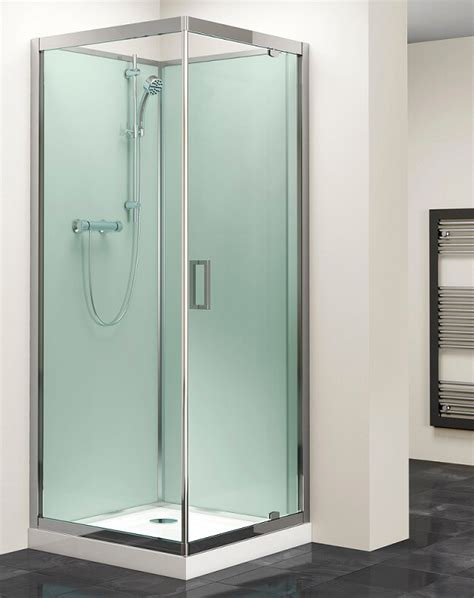 Big Bathrooms Ideas by Moods 800mm Shower Unit Pivot Door Enclosure Aqua Glass