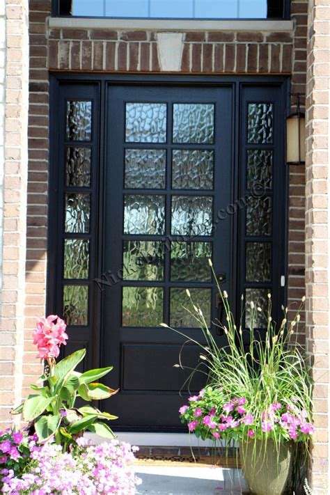 Front Door Glass Panels 25 Best Ideas About Black Front Doors On Paint Doors Black Black Door And Black