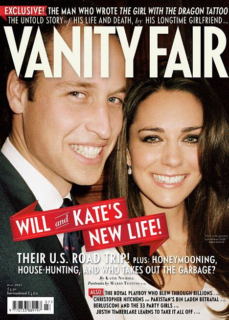 the duke and duchess of cambridge on the cover of vanity