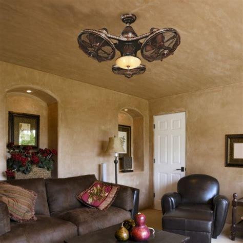 3 head ceiling fan 38 quot esquire rich bronze finish 3 head ceiling fan