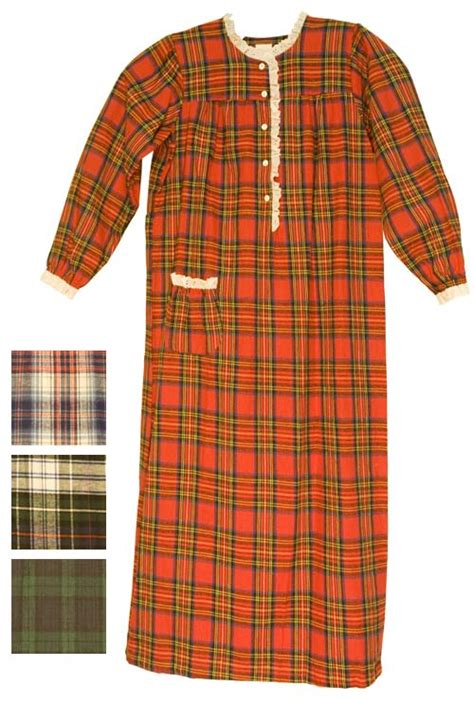 Floor Length Nightgowns by Carole Cotton Flannel Floor Length Nightgown
