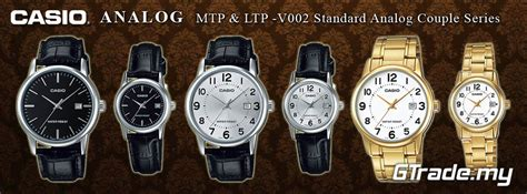 Casio Standard Mtp Ltp V002gl 7 Original Garansi Resmi 1 Tahun casio standard ltp v002d 7av analog date