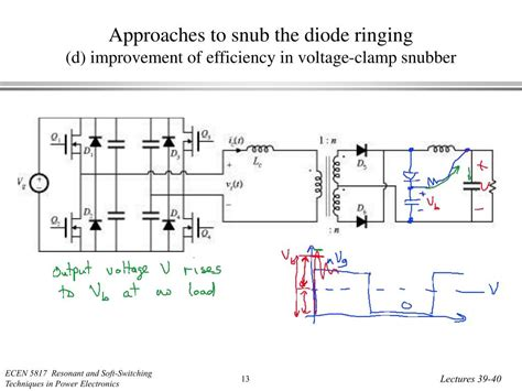 switching diode efficiency ppt zero voltage transition converters the phase shifted