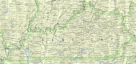 physical map of kentucky kentucky outline maps and map links