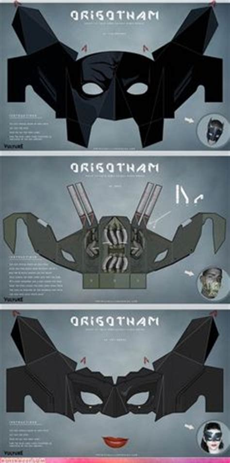 How To Make Paper Batman Mask - 1000 images about costumes on mask