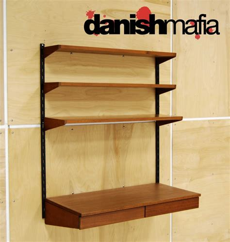 Desk Shelving by Mid Century Modern Teak Desk Cado Wall Shelving