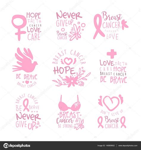 breast cancer pink color breast cancer fund collection of colorful promo sign
