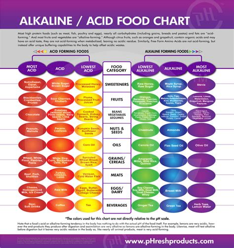 best alkaline food alkaline food chart organice your