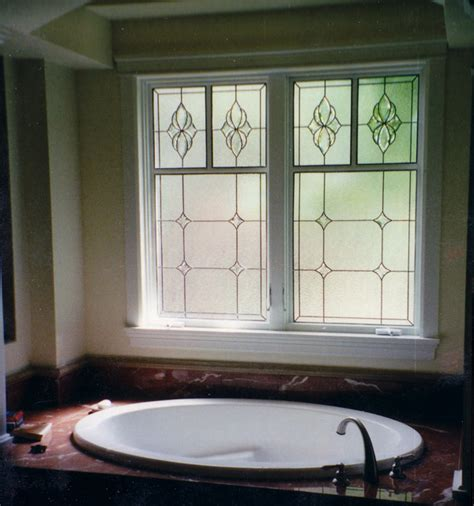 bathroom window glass stained glass bathroom scottish stained glass