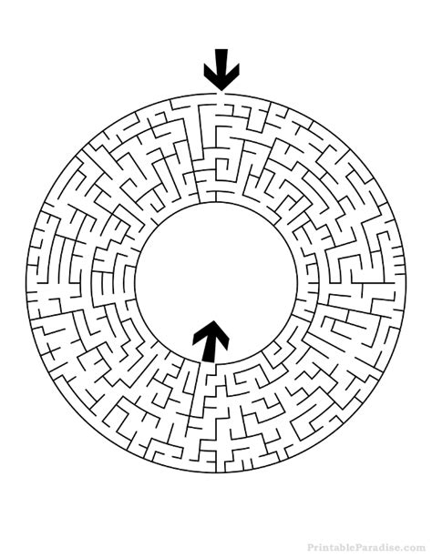maze printable version printable round maze difficult