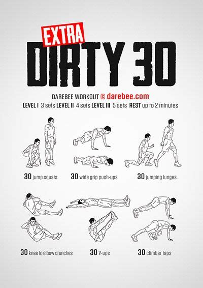 Ea Fitness 5 by 30 Darebee Workout Fitness