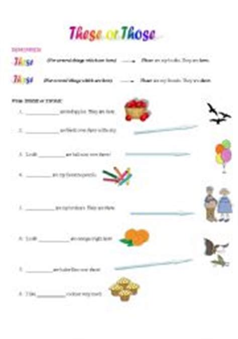 preguntas con this that these those these or those esl worksheet by christofor