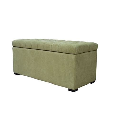 avenue six ottoman avenue six sahara tufted storage bench shultz basil fabric