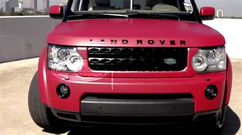 red land rover lr4 matte red car wrap in a land rover lr4 youtube