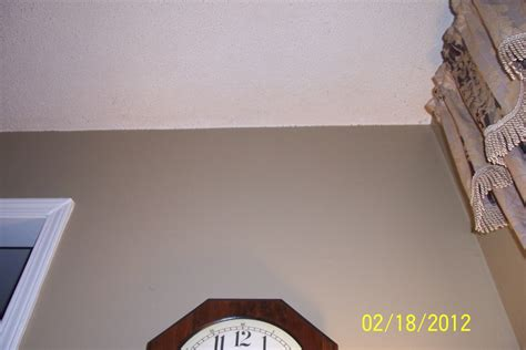 Cutting In A Ceiling by Cutting Walls Along Popcorn Ceiling Painting Finish