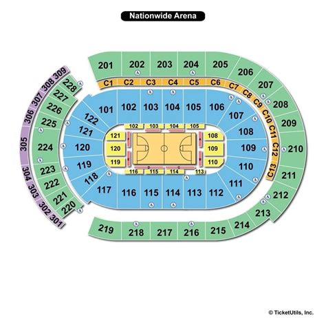 nationwide arena seating nationwide arena columbus oh seating chart view