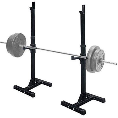 bench press holder zeny set of 2 adjustable standard solid steel squat stands gym barbel zeny products