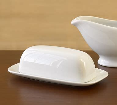 great white butter dish pottery barn
